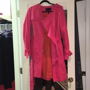 Fuscia BCBG Max Azria trench coat